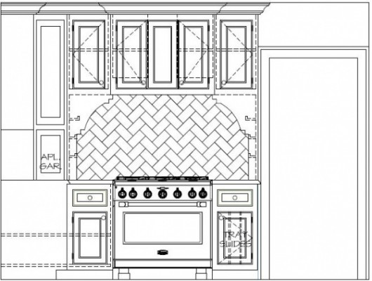 Vertical Drawing of Stove for while Planning Kitchen