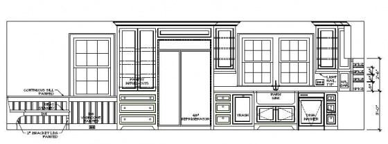 Vertical Blueprints for Kitchen Layout