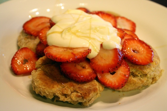 Strawberries, Biscuits, Cream and Shortcake