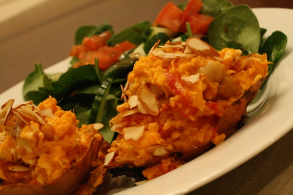 Stuffed Sweet Potato Close Up
