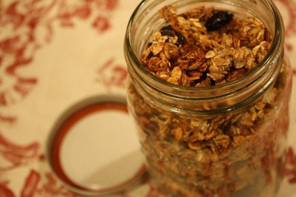 Open Jar of Granola