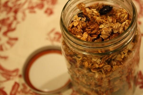 Open Jar of Granola