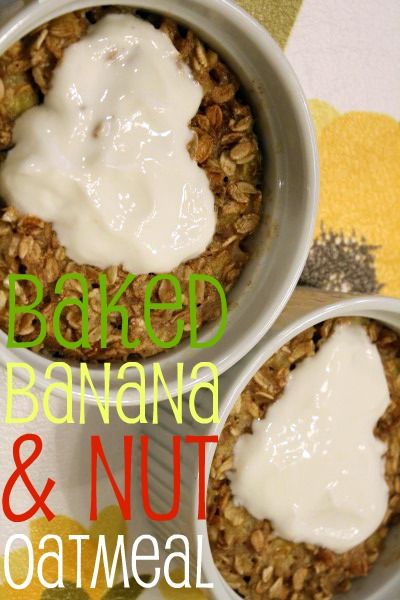Baked Banana and Nut Oatmeal