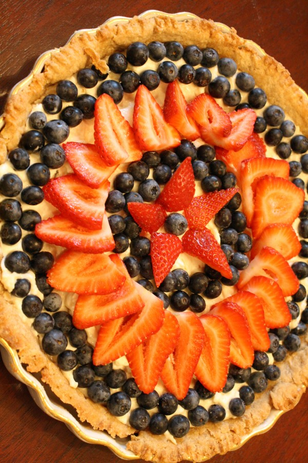 Blueberry and Strawberry Tart