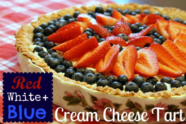 Red, White, and Blue Cream Cheese Tart