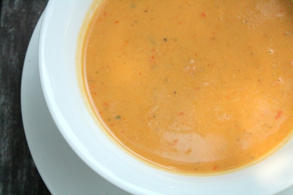 Red Pepper Coconut Lentil Soup