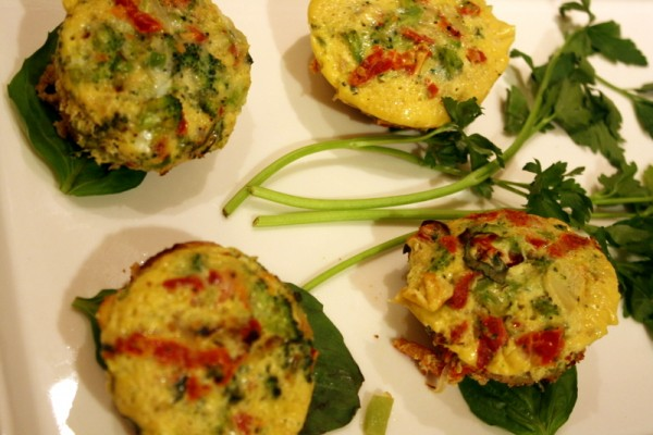 The winning appetizer -- mini quiches