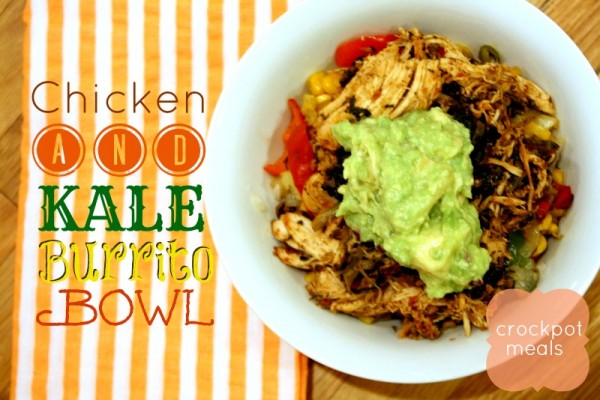 Crockpot Chicken and Kale Burrito Bowl