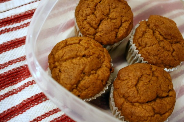 Remove the fat in muffins with pumpkins