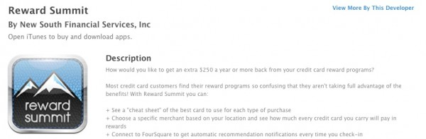 Rewards Summit App in iTunes