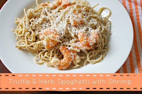 Truffle & Herb Spaghetti with Shrimp