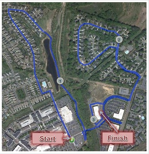 Keep Your Resolution 5K Course Map