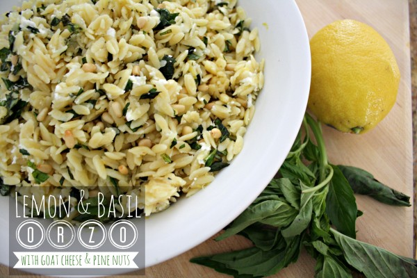 Lemon and Basil Orzo
