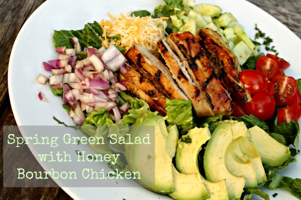 Avocado Salad with Honey Bourbon Chicken