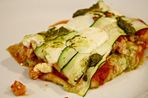 Pesto and Zucchini Lasagna