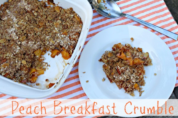 Peach Breakfast Crumble
