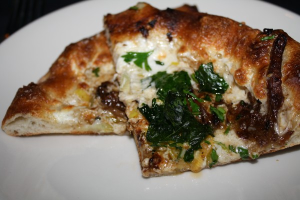 Black & White Pizza Paired at Wolfgang Puck Pizza Kitchen