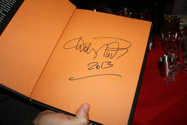 Wolfgang Puck's Autographed Book