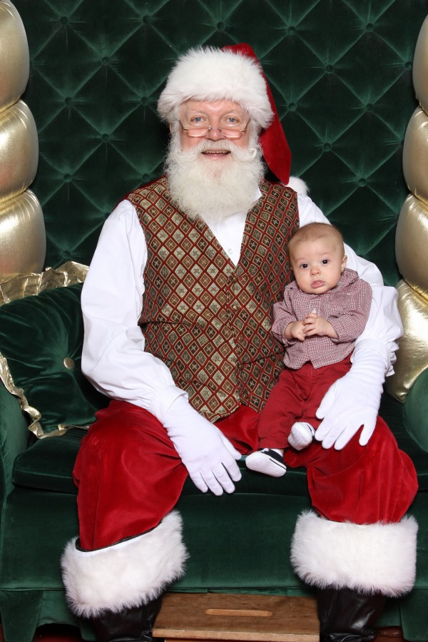 Elliott with Santa