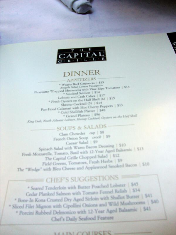 Capital Grille Foodie Fresh